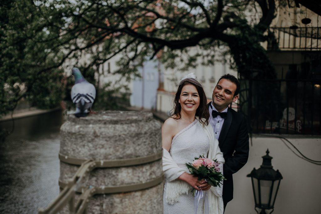 Beautiful couple photo shoot at Kampa Island Prague